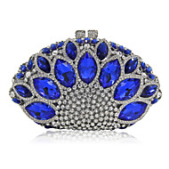 baratos Clutches & Bolsas de Noite-Mulheres Bolsas Metal Bolsa de Festa Cristal / Strass Azul Marinho / Azul Céu / Vermelho / Rhinestone Crystal Evening Bags
