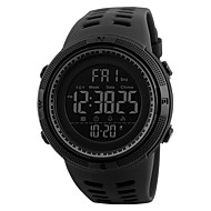 cheap Watches Deal-Men's Sport Watch / Military Watch / Wrist Watch Japanese Alarm / Calendar / date / day / Chronograph PU Band Fashion Black / Water Resistant / Water Proof / Dual Time Zones / Stopwatch / Noctilucent