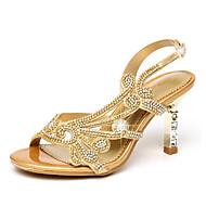 halpa -Sandaalit-Piikkikorko-Naiset-Mikrokuitu--Häät Puku Juhlat-Comfort Uutuus Club Kengät