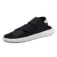 tanie Obuwie męskie-Męskie Komfortowe buty Materiał Wiosna / Lato Sandały Biały / Czarny / Fioletowy