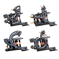 Dragonhawk 4 pcs Professional Tattoo Machines  Fine Lining Shading Tattoo Machine Coloring Lining 10 Wraps Tattoo Machines