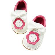 Genç Kız Ayakkabı Diğer Hayvan Cilt Bahar Sonbahar İlk Adım Atletik Ayakkabılar Yürüyüş Sihirli Bant Uyumluluk Günlük Beyaz Pembe