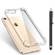 Kompatibilitás iPhone X iPhone 8 iPhone 8 Plus tokok Ütésálló Átlátszó Hátlap Case Tömör szín Puha Hőre lágyuló poliuretán mert Apple
