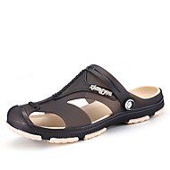 メンズ 靴 化繊 春 夏 穴の靴 スリッパ&フリップ・フロップ 用途 ブラック ダークブルー グレー ダークブルー グリーン