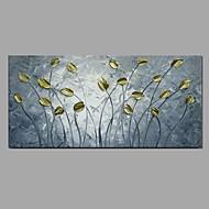 Ручная роспись Цветочные мотивы/ботанический Горизонтальная,Modern Пастораль 1 панель Холст Hang-роспись маслом For Украшение дома
