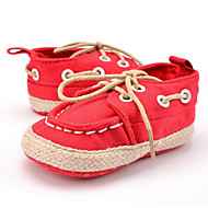 キッズ 赤ちゃん スニーカー 赤ちゃん用靴 キャンバス 秋 冬 カジュアル ドレスシューズ パーティー 赤ちゃん用靴 編み上げ コンビ フラットヒール ブラック レッド ブルー フラット