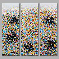 Χαμηλού Κόστους Paintings-Ζωγραφισμένα στο χέρι Αφηρημένο Κάθετη Πανοραμική, Αφηρημένο Μοντέρνο/Σύγχρονο Καμβάς Hang-ζωγραφισμένα ελαιογραφία Αρχική Διακόσμηση