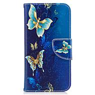 Para samsung galaxy j3 j3 (2016) capa capa borboleta padrão pu material cartão cartão stent telefone galaxy j7 j5 j3