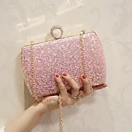 baratos Clutches & Bolsas de Noite-Mulheres Bolsas PU Bolsa de Ombro Pedrarias Branco / Rosa