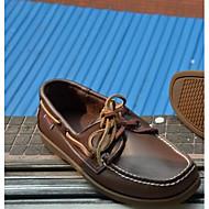 メンズ 靴 本革 春 コンフォートシューズ ボート用シューズ 用途 カジュアル Brown