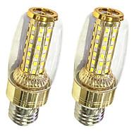9W LED-kornpærer T 58 SMD 2835 600-700 lm Varm hvit Hvit V 2