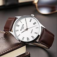 Hombre Reloj de Moda Cuarzo Estilo clásico Piel Negro / Marrón Analógico Casual - Blanco Azul