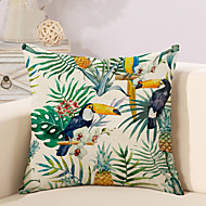 cheap Pillow Covers-1 pcs Cotton/Linen Pillow Case Pillow Cover, Printing Animal Novelty Vintage Casual Tropical European Neoclassical Traditional/Classic