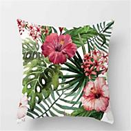 1pcs moda tropical planta sofá almofada pele dura travesseiro capa