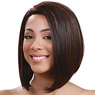 Sintetičke perike Ravan kroj Bob frizura Gustoća Capless Žene Crna Prirodna perika Kratko Sintentička kosa
