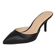 baratos Sapatos Femininos-Unisexo Sapatos Couro Ecológico Verão / Outono Sandálias Salto Agulha Dedo Apontado / Dedo Aberto Preto / Sapatos clube / Festas & Noite