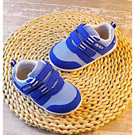 Bebek Ayakkabı Tül Bahar Sonbahar İlk Adım Düz Ayakkabılar Yürüyüş Alçak Topuk Yuvarlak Uçlu Sihirli Bant Uyumluluk Günlük Bej Mavi Ekran