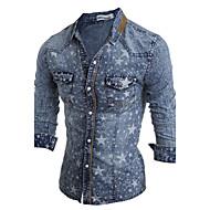 Majica Muškarci - Kinezerije Dnevno Pamuk Jednobojni Klasični ovratnik