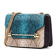 Women Bags All Seasons PU Shoulder Bag for Casual Formal Outdoor Office & Career Professioanl Use Green Red Azure