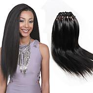 """צמות סרוגות טרום לולאה צמות שיער צמות קרוקט Yaki Straight 18"""" 100% ahgr קנקלון הבינוני אובורן סגול בורדו כחול שחור שיער קלוע תוספות שיער"""