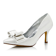 Womens Dyeable Wedding Shoes Club Comfort Silk Fall Winter Outdoor Office