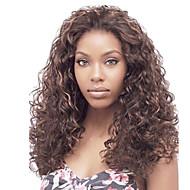 Naisten Synteettiset peruukit Lace Front Pitkä perverssi Keskiruskea Black / Medium Auburn Afro-amerikkalainen peruukki Tummille naisille