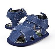 キッズ 赤ちゃん サンダル 赤ちゃん用靴 繊維 夏 秋 カジュアル ドレスシューズ パーティー 赤ちゃん用靴 フラットヒール ホワイト ブルー フラット