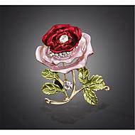 hesapli -Kadın's Broşlar alaşım Çiçek Kırmzı Mavi Çiçek Mücevher Düğün Parti Özel Anlar Davet/Parti Parti / Gece Günlük Kostüm takısı