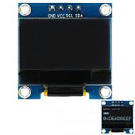 0.96 128x64 i2c grensesnitt hvit farget oled skjermmodul for arduino