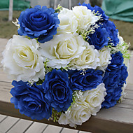 1 větev (2 barvy) plastové růže stolní květina umělé květy multicolor volitelně