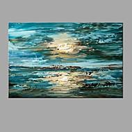 Handgeschilderde AbstractAbstract Modern/Hedendaags Eén paneel Stof Hang-geschilderd olieverfschilderij For Huisdecoratie
