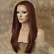 女性 人工毛ウィッグ フロントレース ロング丈 ストレート ブラック オーバーン ナチュラルヘアライン ナチュラルウィッグ コスチュームウィッグ