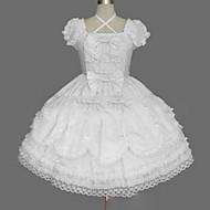 Prenses Sweet Lolita Punk Kadın's Genç Kız Elbiseler Cosplay Beyaz Balo Abiyesi Kaplı Kol Kısa Kollu Kısa / Mini Büyük Bedenler özelleştirilmiş Kostümler