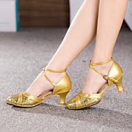 billige Moderne sko-Dame Moderne sko Høye hæler Tvinning Kustomisert hæl Kan spesialtilpasses Dansesko Rød / Blå / Rosa / Innendørs