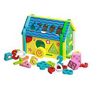 model s displejem Stavební bloky Vzdělávací hračka Příslušenství k domečku pro panenky za dárky Stavební bloky Přírodní dřevo 3-6 let