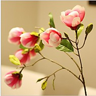 1 haara Silkki Magnolia Keinotekoinen Flowers
