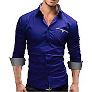Klassisk krave Tynd Herre - Ensfarvet Forretning Weekend Skjorte