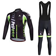 Miloto Camisa com Calça Bretelle Homens Moto Conjuntos de Roupas Calças Poliéster 100% Poliéster LYCRA® Ciclismo/Moto