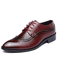 baratos Sapatos Masculinos-Homens Sapatos formais Couro Primavera / Outono Formais Oxfords Caminhada Preto / Marron / Vermelho / Casamento / Festas & Noite