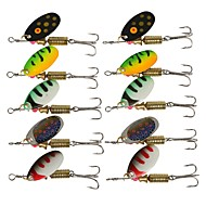 """cheap Fishing-10 pcs Jigs Swimbaits Accessory Lure kits Others Metal Bait Buzzbait & Spinnerbait g / Ounce, 60,65 mm / 2-5/8"""" 2-3/8"""" inch, Brass Steel"""