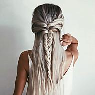Syntetisk Lace Front Parykker Lige / Yaki Syntetisk hår Ombre-hår / Mørke hårrødder / Natural Hairline Brun Paryk Dame Lang Blonde Front