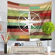 billige Veggdekor-Nautisk Veggdekor 100% Polyester Mønstret Veggkunst, Veggtepper Dekorasjon