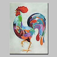 billiga Djurporträttmålningar-Hang målad oljemålning HANDMÅLAD - Djur Abstrakt Modernt Modernt Inkludera innerram