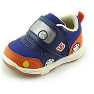Bebek Ayakkabı Tül Yapay Deri Bahar Sonbahar İlk Adım Düz Ayakkabılar Yürüyüş Sihirli Bant Uyumluluk Günlük Kırmzı Mavi