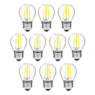 4W フィラメントタイプLED電球 G45 4 COB 300 lm 温白色 ホワイト 調光可能 V 10個