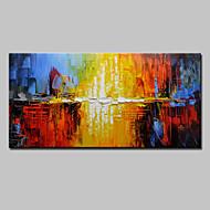 voordelige -Handgeschilderde Abstract Horizontaal, Europese Stijl Modern Kangas Hang-geschilderd olieverfschilderij Huisdecoratie Eén paneel