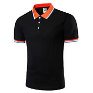 男性用 プラスサイズ Polo 活発的 シャツカラー スリム ソリッド