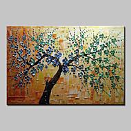 billiga Blom-/växtmålningar-Hang målad oljemålning HANDMÅLAD - Blommig / Botanisk Moderna / Europeisk Stil Inkludera innerram