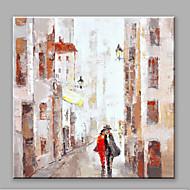 Χαμηλού Κόστους Paintings-Ζωγραφισμένα στο χέρι Τοπίο Τετράγωνο, Αφηρημένο Καμβάς Hang-ζωγραφισμένα ελαιογραφία Αρχική Διακόσμηση Μονόπτυχα
