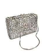 Women Bags PU Metal Clutch Pearl Crystal/ Rhinestone for Wedding Event/Party Formal Office & Career Winter Spring Summer Fall All Seasons